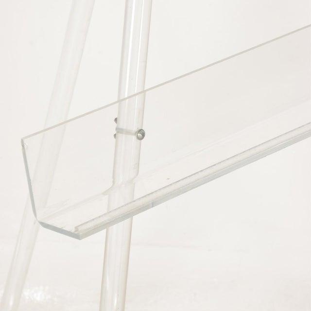 Charles Hollis Jones Mid-Century Modern Lucite Easel For Sale - Image 4 of 9