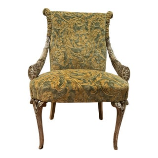 Empire Grosfeld House Lee Jofa Printed Velvet Chair For Sale