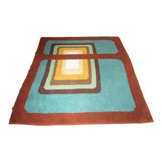 Original Modernist Geometric Design Rug - 5′8″ × 6′6″ For Sale