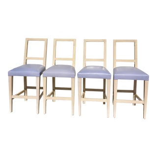 John Hutton Wooden Bar Stools - Set of 4, Vintage For Sale