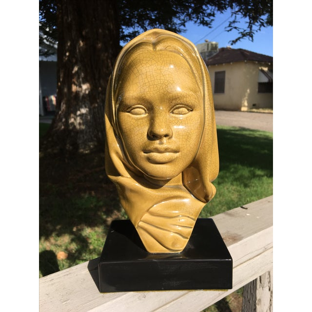 Mid-Century Modern Glazed Ceramic Virgin Mary - Image 2 of 6