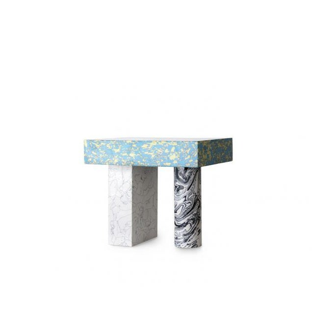 Abstract Tom Dixon Swirl Low Side Table For Sale - Image 3 of 8