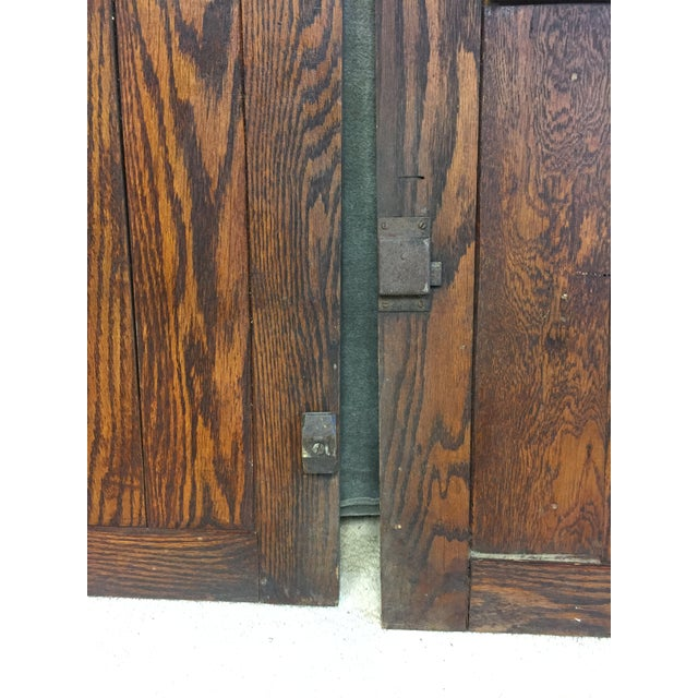Vintage Rustic Wood Cabinet Doors - A Pair For Sale - Image 4 of 11