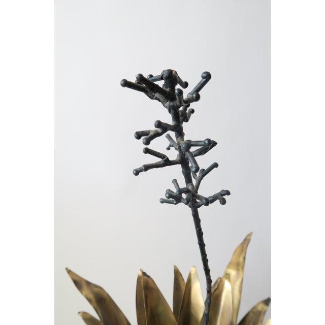 Vintage Metal Succulent Sculpture For Sale - Image 4 of 7