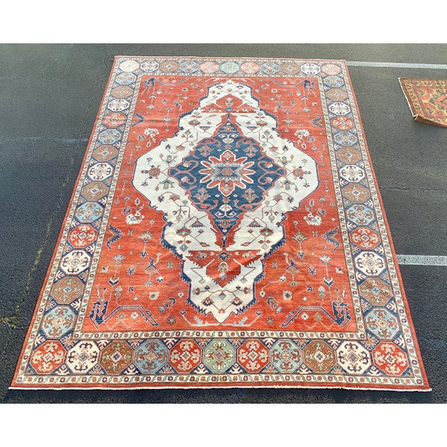1990s Persian Serapi Rug - 10′ × 13′9″ For Sale - Image 13 of 13