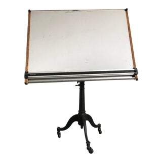 1960s Vintage Cast Iron Drafting Table For Sale