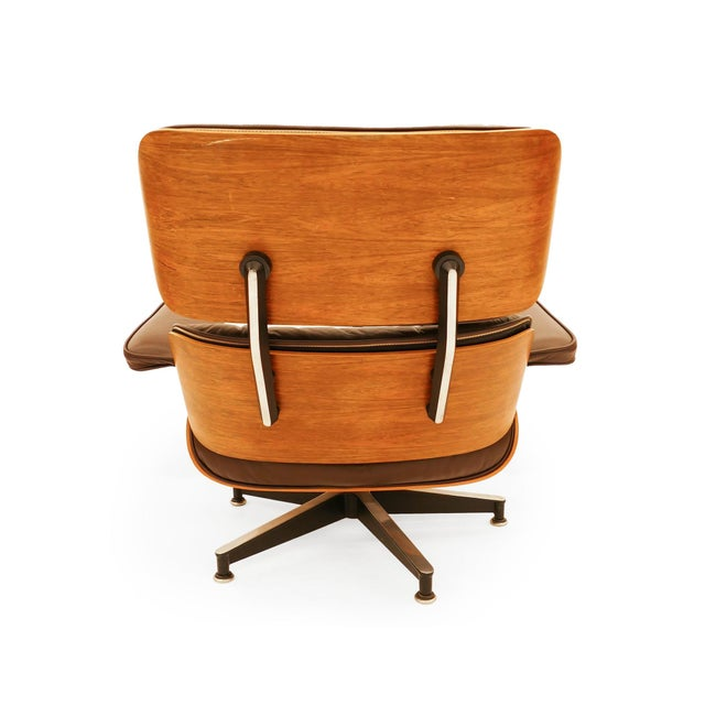 Mid-Century Modern Vintage Rosewood Eams Chair and Ottoman for Herman Miller For Sale - Image 3 of 6