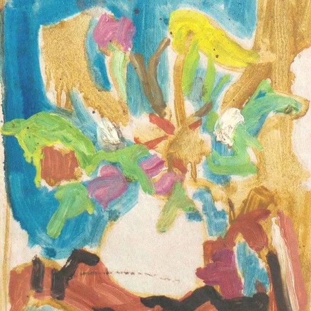 Victor Di Gesu estate seal and stamp verso. Painted circa 1955. A winner of the Prix Othon Friesz, Victor di Gesu first...