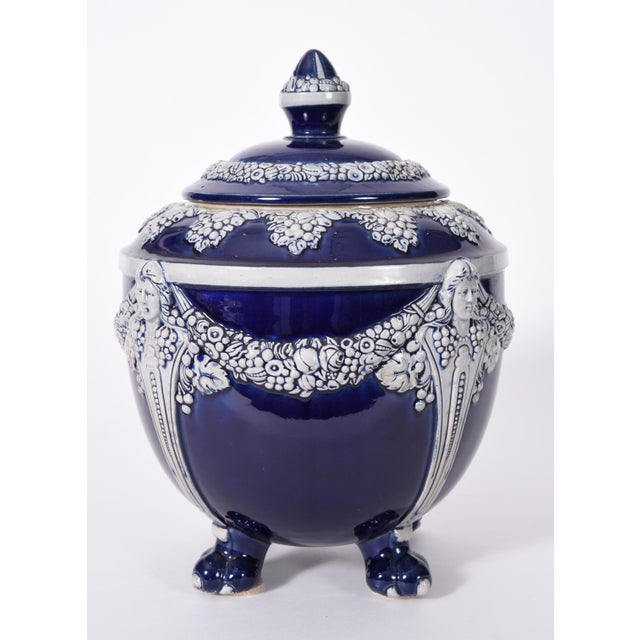 German Porcelain Covered Decorative Piece For Sale - Image 9 of 10