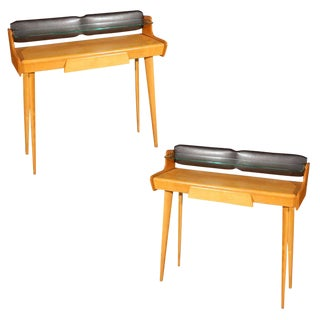 Pair of Italian Mid Century Vanities/Consoles by Carlo DI Carli For Sale