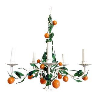 1950s Italian Orange Tree Chandelier For Sale