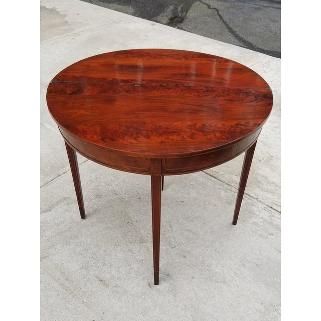 Antique Rosewood Hepplewhite Card Table For Sale - Image 10 of 13