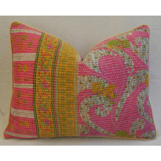 Vintage Kantha Textile Pillows - a Pair For Sale In Los Angeles - Image 6 of 11