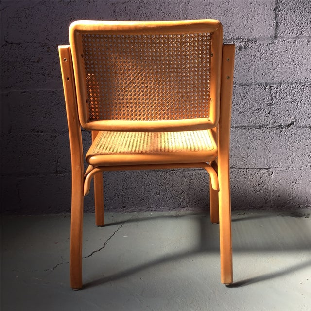 Danish Modern Bentwood Cane Chairs - Set of 6 - Image 5 of 11