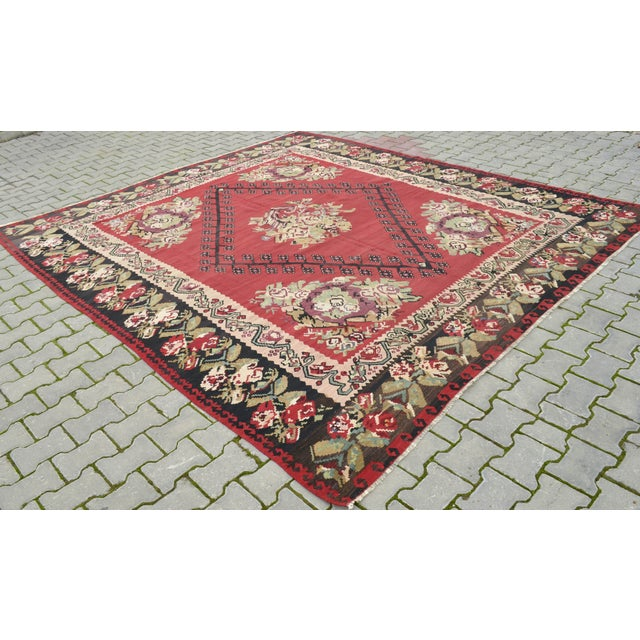 "Anatolia Turkish Kilim Large Rug - 9'6"" X 10'8"" - Image 8 of 10"
