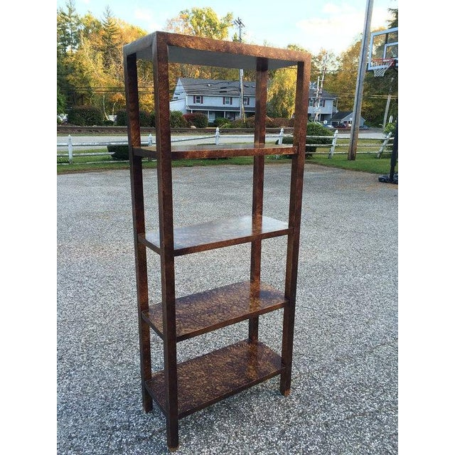 Faux Tortoise Shell Etagere by Lane - Image 2 of 5