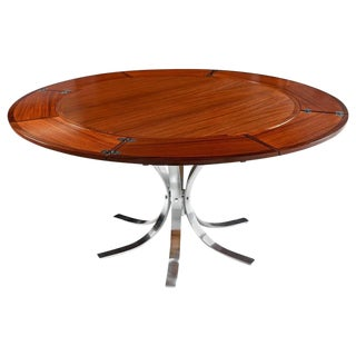 Dyrlund Expanding Circular Rosewood Dining Table