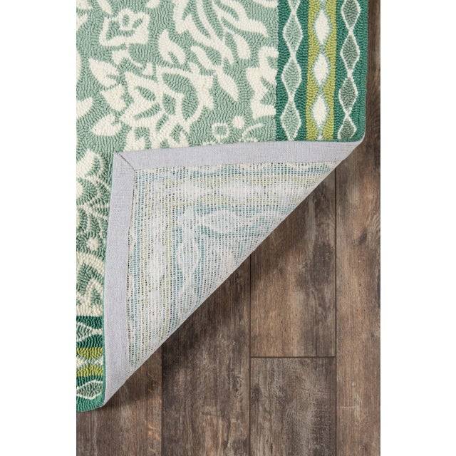 Madcap Cottage Under a Loggia Rokeby Road Green Indoor/Outdoor Area Rug 5' X 8' For Sale In Atlanta - Image 6 of 9