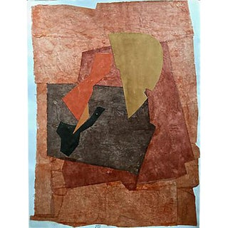 Abstract Collage Watercolor by Roger Stokes For Sale
