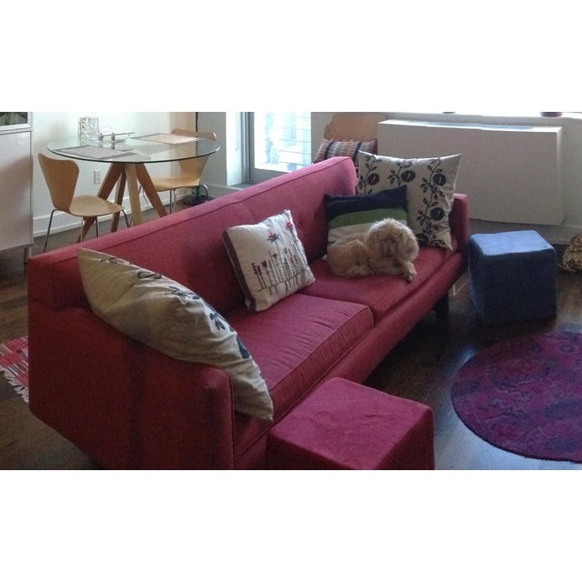 Red Room & Board Andre Sofa For Sale - Image 8 of 12