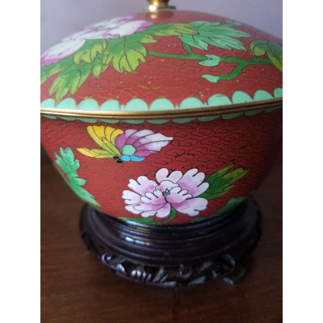 Chinese Cloisonne Bowl on Stand - Image 6 of 11