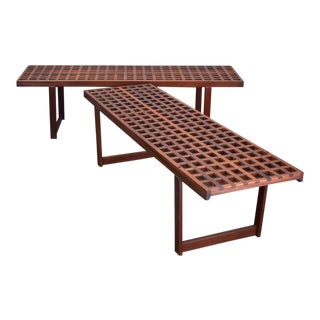 On Hold - Rare Peter Løvig Nielsen Benches / Coffee Tables - Two Available For Sale