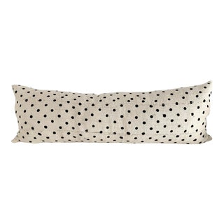 Polka Dot African Mud Cloth Textile Body Pillow For Sale