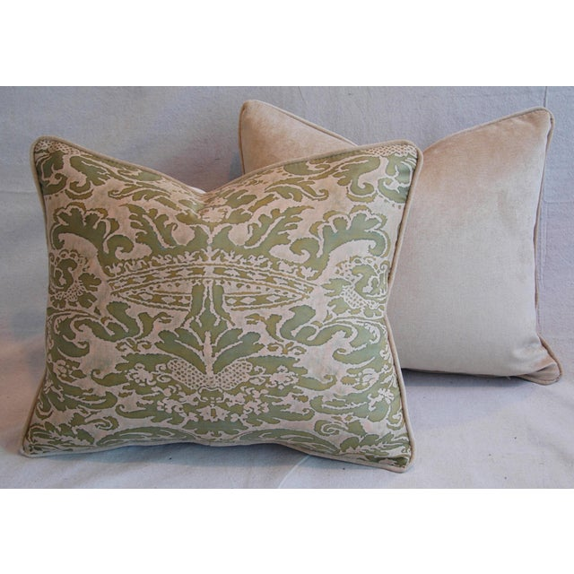 Italian Fortuny Corone Crown Down Pillows - A Pair - Image 11 of 11