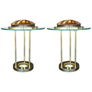 Pair of Saturn Desk Lamps by Robert Sonneman For Sale