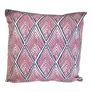 Kim Salmela Fuchsia & Navy Geometric Pillow For Sale