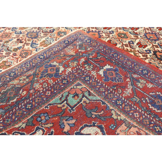 1920s 1920s Antique Persian Mahal Rug- 8′8″ × 11′7″ For Sale - Image 5 of 10
