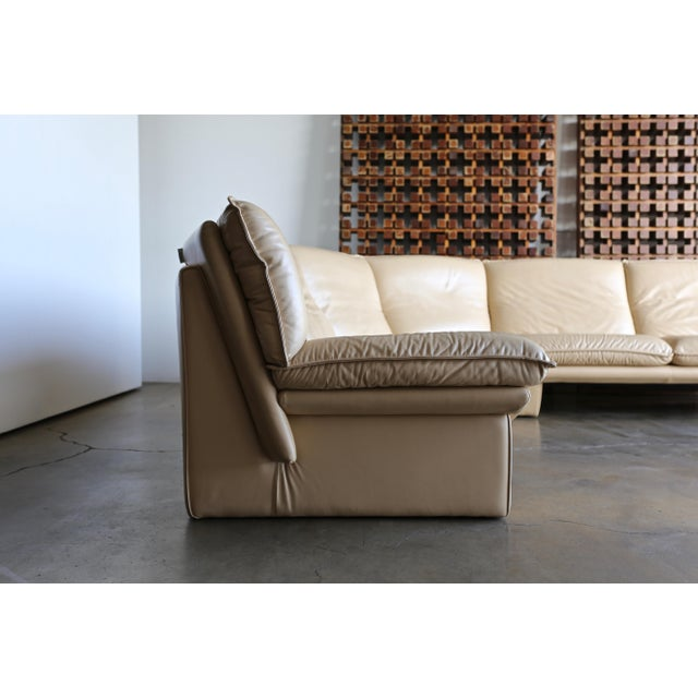 Nicoletti Salotti Modern Leather Sectional Sofa Circa 1985 For Sale In Los Angeles - Image 6 of 13