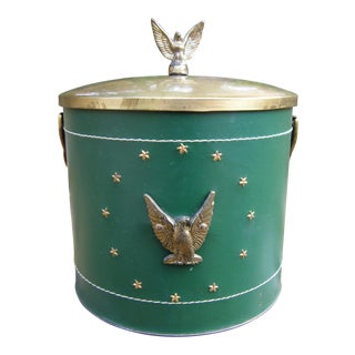 Mid Century Green Eagle Ice Bucket For Sale