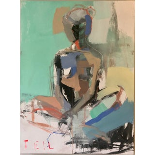 Teil Duncan Figure Study Painting For Sale