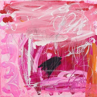 """Lesley Grainger """"The Show Must Go On"""" Original Abstract Painting For Sale"""