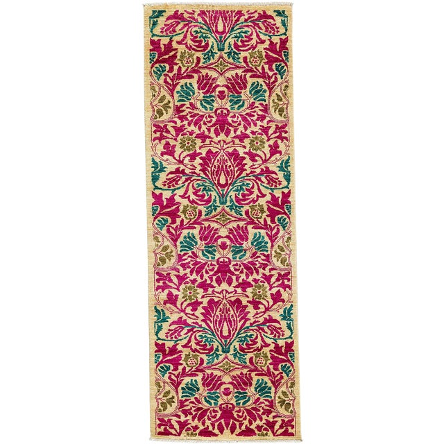 """Arts & Crafts Hand Knotted Runner - 2'7"""" X 7'10"""" For Sale"""
