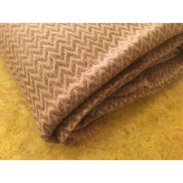 Large Pink Cashmere Blanket - Image 8 of 11