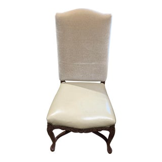 Cream Mohair Upholstered Chair For Sale