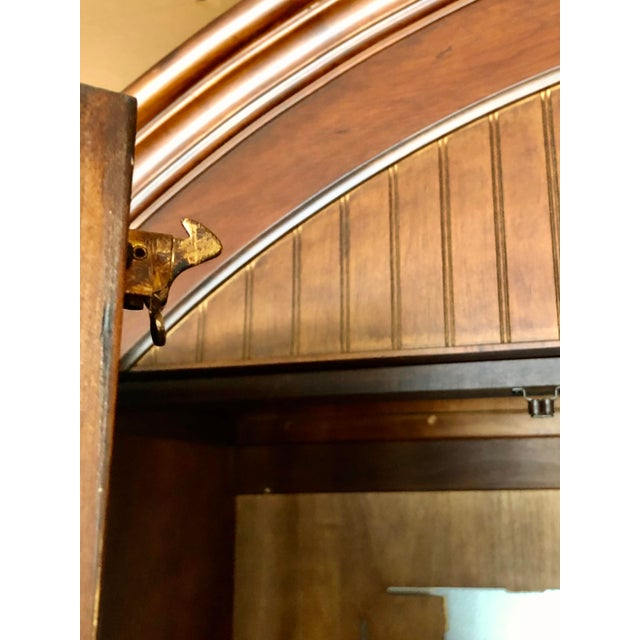 Jim Peed for Romweber Rustic Hardwood Armoire For Sale - Image 10 of 13
