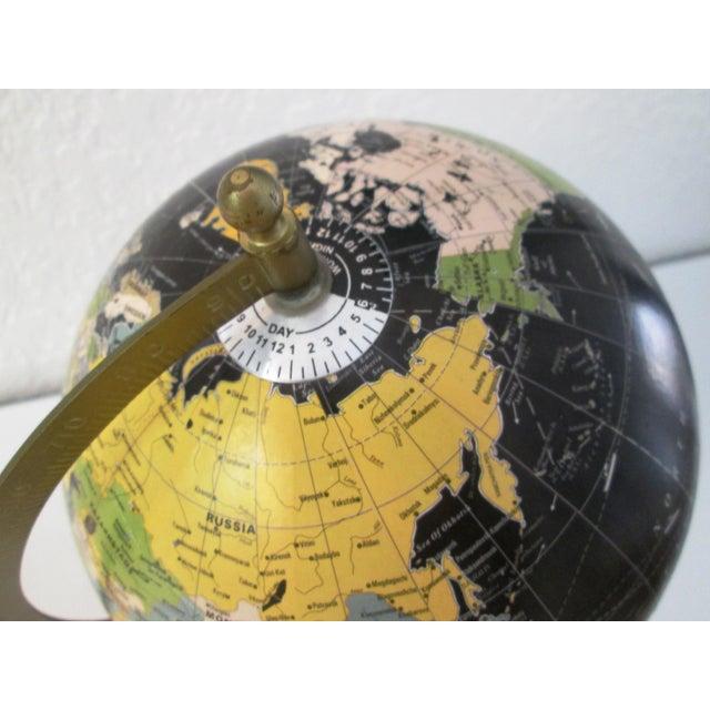 Black Spinning World Globe - Image 5 of 8