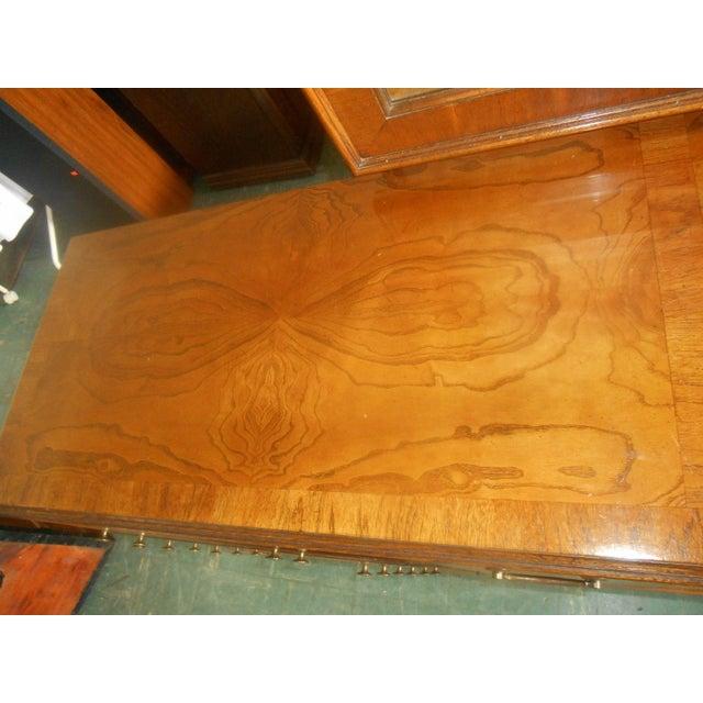 Lane Furniture Burl Maple Triple Dresser & Mirror - Image 5 of 8