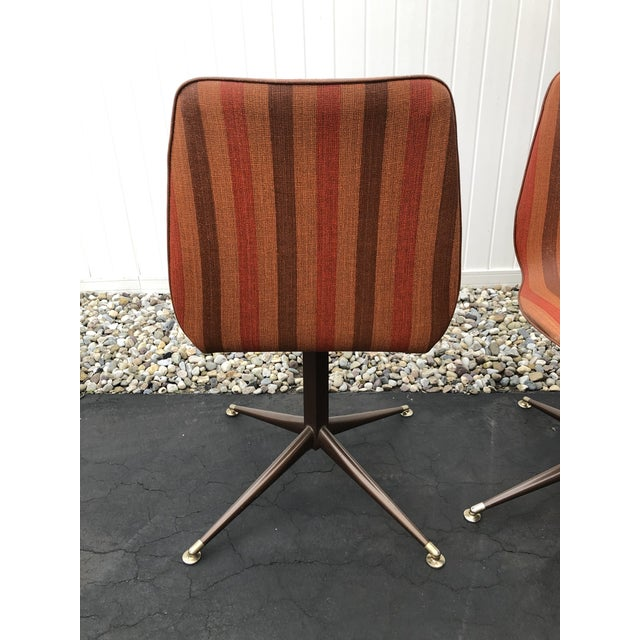 Vintage Mid Century Howell Acme Striped Vinyl Chairs- Set of 4 For Sale - Image 9 of 13