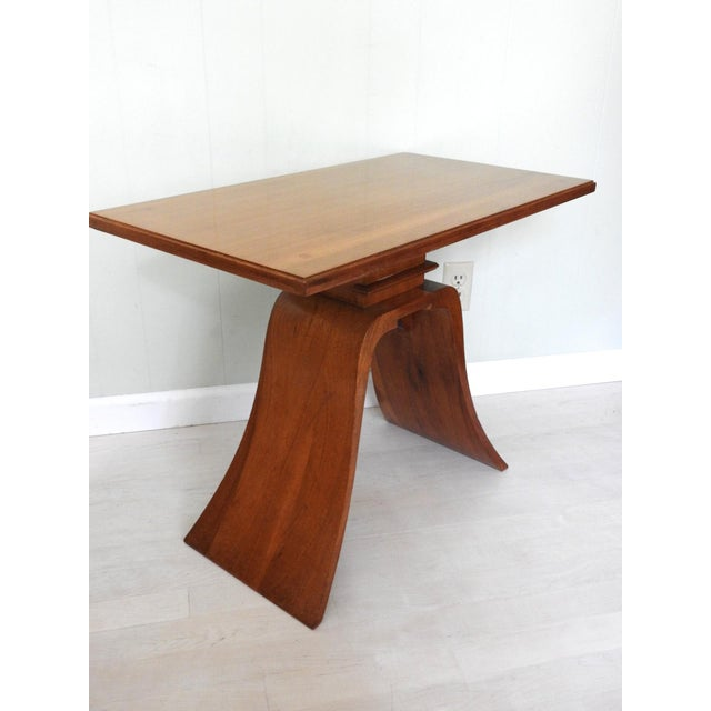 Art Deco Art Deco Paul Frankl Bell Side Table For Sale - Image 3 of 12