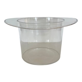 Clear Plastic Hat Wine Bucket For Sale