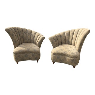 1970s Vintage Shell Club Chairs** - a Pair For Sale