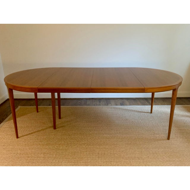 Vintage Swedish Walnut Dining Table by B. Fridhagen for Bodafors For Sale - Image 13 of 13