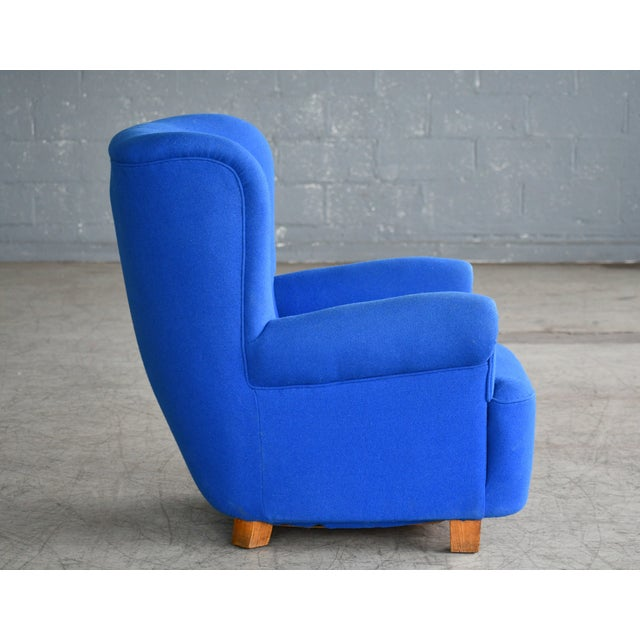 1940s Danish Midcentury Fritz Hansen Style Large Scale Club or Lounge Chair, 1940s For Sale - Image 5 of 10