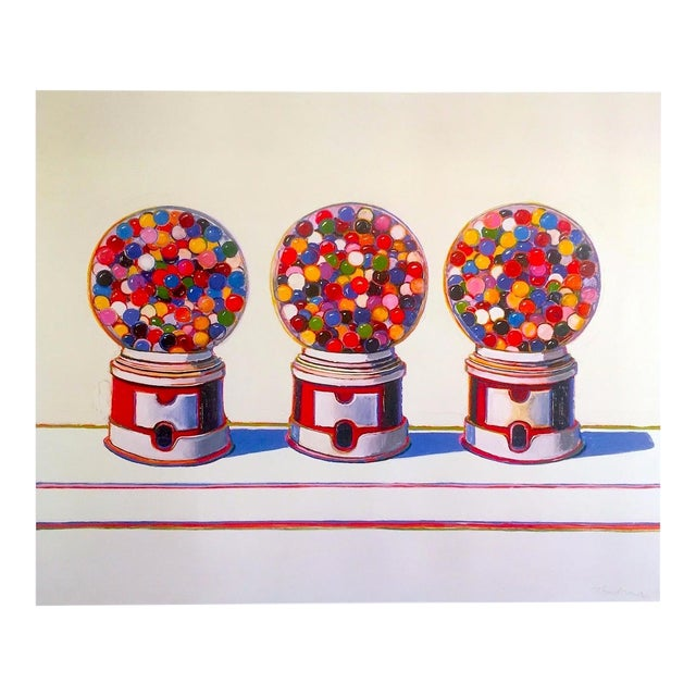 "Wayne Thiebaud Lithograph Print Pop Art Museum Poster "" Three Machines "" 1963 For Sale"