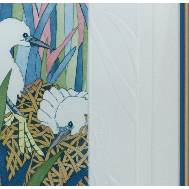 """Glass Judith Hall """"The Rookery"""" Intaglio Print For Sale - Image 7 of 10"""