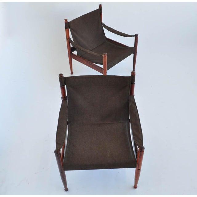 Erik Worts Rosewood Safari Sling Chair - Pair - Image 8 of 10